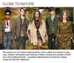 Fall 2013 Fashion Trends | Fall Winter 2014 Fashion Trends from Fashion Snoops | Blue Bergitt  NATURE INSPIRED