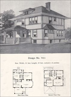 65 Best 1890-1930 American Foursquare images | Vintage houses ... Prairie Foursquare House Plans on prairie design house, prairie foursquare decor, prairie square house,