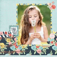 You Make My Heart Sing - Welcome Spring Collection from Simple Stories Scrapbook Layout Senior Year Scrapbook, Baby Scrapbook Pages, Scrapbook Albums, Scrapbook Cards, School Scrapbook, Birthday Scrapbook, Scrapbook Examples, Scrapbook Sketches, Scrapbook Page Layouts
