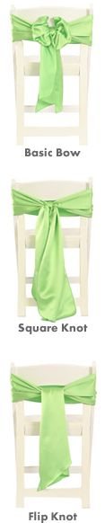 Different Ways To Tie Chair Cover Sashes.
