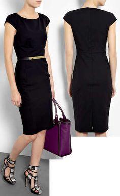 Paul Smith Black Wool Shift Dress
