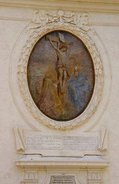 Rom, Lungotevere de Cenci, San Gregorio della Divina Pietà, Kreuzigung von Etienne Parrocel (Crucifixion by Etienne Parrocel)