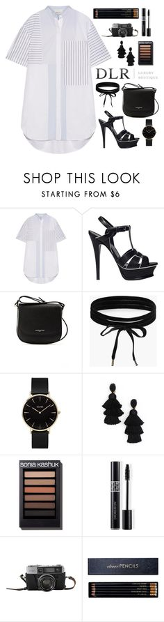 """Untitled #426"" by savkcollins ❤ liked on Polyvore featuring 3.1 Phillip Lim, Yves Saint Laurent, Lancaster, Boohoo, CLUSE, Oscar de la Renta, Christian Dior and Sloane Stationery"