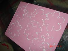 easy art work your kids can do--with a cookie cutter!