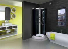 AquaTech 800x800mm Thermostatic Modern Black Quadrant Shower Room Cubicle Cabin · $389.00 Quadrant Shower, Shower Cabin, Cubicle, Glass Door, Bathtub, Modern, Room, Black, Standing Bath