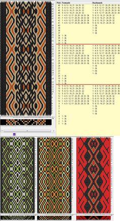 36 tarjetas, 3/ 4 colores, repite cada 16 movimientos // sed_541a diseñado en GTT༺❁