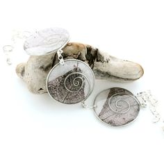 Paper and Wire Spiral Statement Necklace