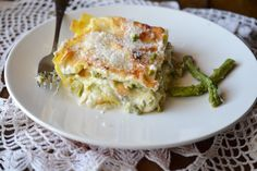 lasagne con asparagi e scamorza,lasagne,lasagne in bianco,lasagne senza sugo,le ricette di tina,