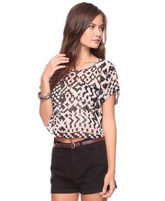 Love this top maybe with white skinny jeans!