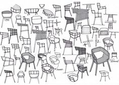 Sketches of the Maritime Chair by Benjamin Hubert for Casamania