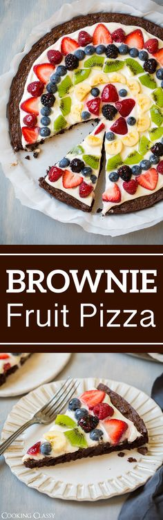 Brownie Fruit Pizza - Cooking Classy