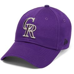 PINK Colorado Rockies Baseball Hat ($30) ❤ liked on Polyvore featuring accessories, hats, cotton hat, pink baseball cap, pink baseball hat, colorado rockies baseball hat and adjustable hats