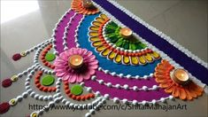Diwali,Navratri Special semi-circle rangoli designs|attractive rangoli f...