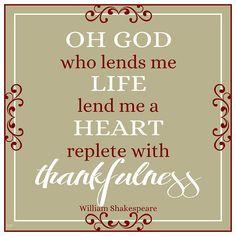 William Shakespeare quote  #gratitude