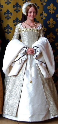 White Tudor Gown: