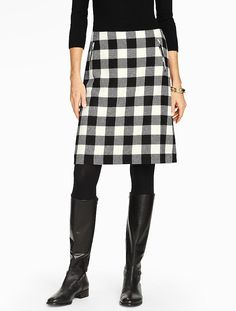 Talbots - Bold Buffalo Plaid A-Line Skirt | New Arrivals |