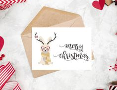 Happy Holiday Card printable Christmas Card Printable