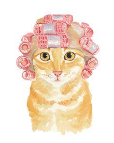 Orange Tabby Watercolor PRINT  Cat Watercolour by WaterInMyPaint, $32.00
