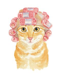 Orange Tabby Watercolor PRINT  Cat Watercolour by WaterInMyPaint, $32.00
