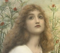 ART BLOG Henry Ryland : Supplication 1898 (Detail) She is beautiful. What a powerful artwork.