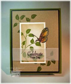 Sweet Butterfly with Vellum Sentiment - stampTV