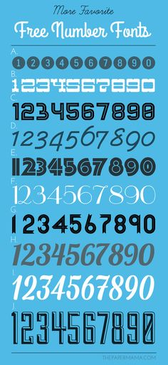 More Favorite Free Number Fonts