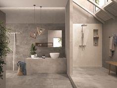 Indoor/outdoor porcelain stoneware wall/floor tiles 99 VOLTE GRIGIO by Viva by Emilgroup House Styles, Decor, Bathroom Spa, Spa Interior, Bathroom Interior Design, Home, Wall And Floor Tiles, Bathroom Design, Home Decor