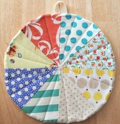 Quilted Potholder in Circus Dog