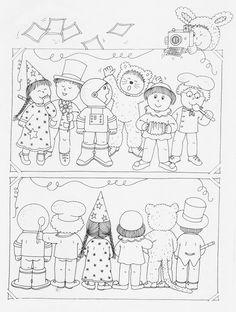 spoj stejnou čarou Circus Crafts, Carnival Crafts, Toddler Preschool, Preschool Activities, Halloween Girlande, Visual Perception Activities, Hidden Pictures, Art Plastique, Coloring Pages For Kids
