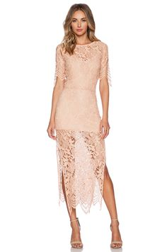 kind of a wildcard - but the lace overlay is amazing and i love the blush color. probably could be made more formal with an updo and some classy jewelry.
