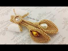 Брошь из бисера Каллы. 1 часть. Brooch from beads Callas - YouTube