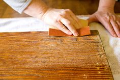 How I Refinished My Grandma's Old Dough Board - step-by-step tutorial on how to refinish dough boards, cutting boards and butcher blocks.