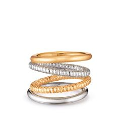 Set of 4 stackable rings. Double Trouble Collection: Silver or Gold? Why choose! This go-to collection gives you all your classic pieces in both tones, perfect for everyday wear. Regularly $19.99, shop Avon Jewelry online at http://eseagren.avonrepresentative.com