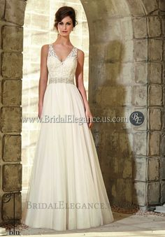 National Bridal Sale - Tulle Wedding Gown with Lace Embroidered Top   Wedding Dresses   Bridal Elegance