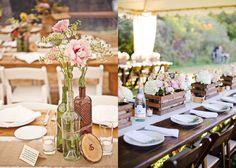 Winery Wedding Centerpieces | Decoração de Casamento – Reutilizando ideias