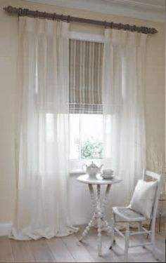 Voiles over blinds (example only)