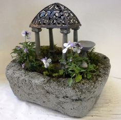 New fairy gardens for the lawn and garden show in Nashville..