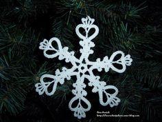 cristaux de neige au crochet décoration Noël