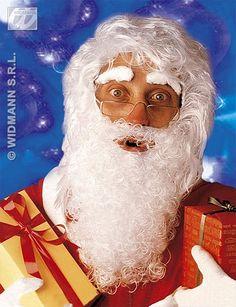 Nick fnt Santa Wig /& Beard Set with Bonus Eyebrows Christmas Holidays St