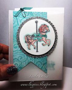 Carousel Birthday Vellum Gift Bag | Linda Higgins | Bloglovin'