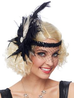 Adult Headpiece Flapper Deluxe Sexy Wig $12.99 AT vintagedancer.com