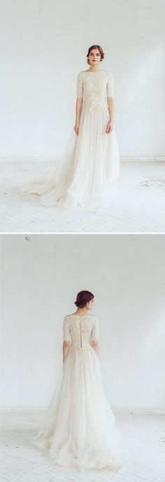 Beautiful Beaded Wedding Dress || Long Sleeve Wedding Dress || Winter Wedding Dress