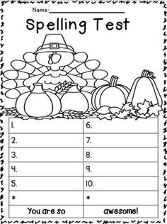 Spelling Test FREEBIES: November Edition!!!! :o) Themes: Thanksgiving, Voting, Veterans Day! ENJOY!!