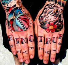 Traditional hand tattoos... Ring True