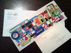 Kyle Paul received special stickers from Google's Melissa Daniels and the Google Chrome Team.  They are Chrome stickers and stickers were mailed to Kyle as part of a special giveaway Google was conduc