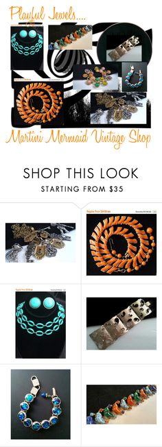 """Playful Jewels....."" by martinimermaid ❤ liked on Polyvore featuring CORO, Hobé and vintage"
