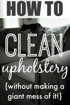 How to successfully clean stains and messes from your couches, chairs, and other…