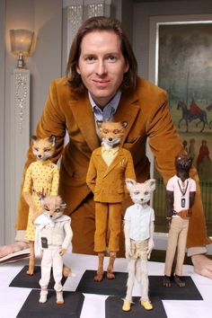 Wes Anderson and the cast of Fantastic Mr. Fox