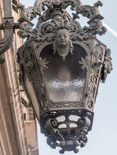 Lamplight, Opera de Nice, France An image travel guide about things to do in… Lantern Lamp, Candle Lanterns, Antique Lanterns, Candels, Chandeliers, Sculpture Metal, Nice France, Iron Work, Street Lamp