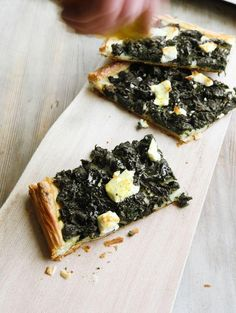 Nettle tart with goat's cheese - you can forage for tender new growth nettles everywhere in spring, just take some gloves with you!